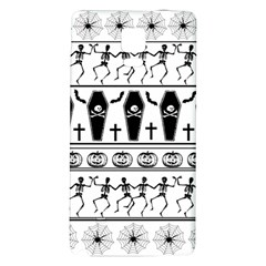 Halloween Pattern Galaxy Note 4 Back Case