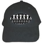 Halloween pattern Black Cap Front