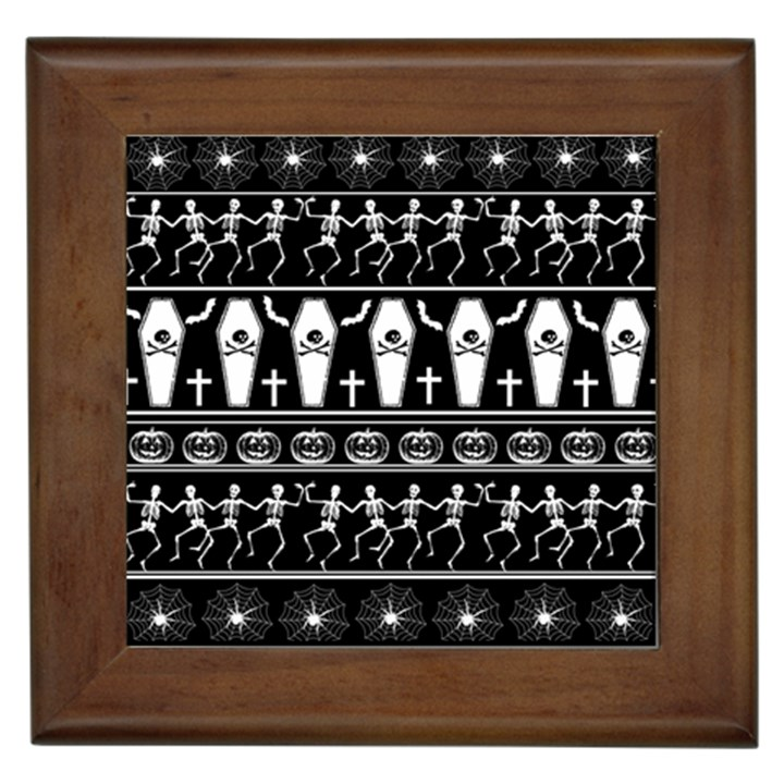 Halloween pattern Framed Tiles