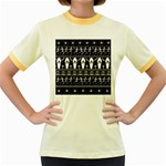 Halloween pattern Women s Fitted Ringer T-Shirts
