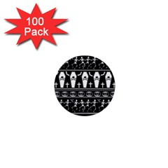Halloween Pattern 1  Mini Buttons (100 Pack)  by ValentinaDesign