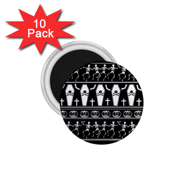 Halloween pattern 1.75  Magnets (10 pack)