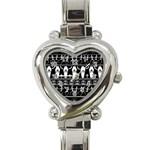 Halloween pattern Heart Italian Charm Watch Front