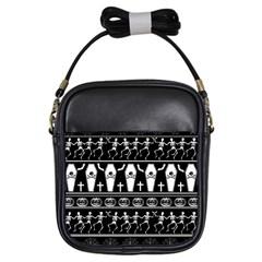 Halloween Pattern Girls Sling Bags
