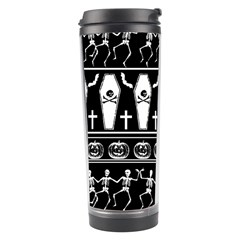 Halloween Pattern Travel Tumbler by ValentinaDesign