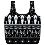 Halloween pattern Full Print Recycle Bags (L)