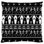 Halloween pattern Large Flano Cushion Case (Two Sides)