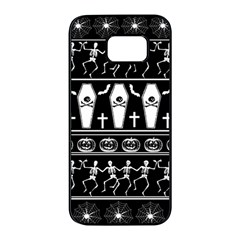 Halloween Pattern Samsung Galaxy S7 Edge Black Seamless Case