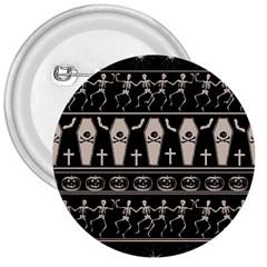 Halloween Pattern 3  Buttons