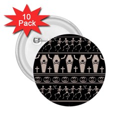 Halloween Pattern 2 25  Buttons (10 Pack)