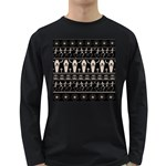 Halloween pattern Long Sleeve Dark T-Shirts Front