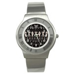 Halloween pattern Stainless Steel Watch Front