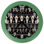 Halloween pattern Color Wall Clocks Front