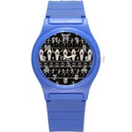 Halloween pattern Round Plastic Sport Watch (S) Front
