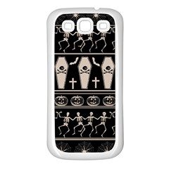 Halloween Pattern Samsung Galaxy S3 Back Case (white) by ValentinaDesign