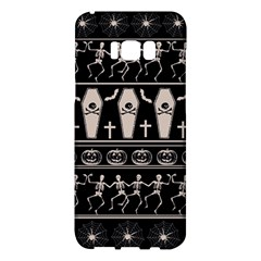 Halloween Pattern Samsung Galaxy S8 Plus Hardshell Case  by ValentinaDesign