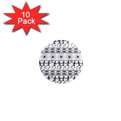Halloween Pattern 1  Mini Magnet (10 Pack)  by ValentinaDesign
