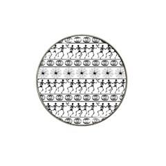 Halloween Pattern Hat Clip Ball Marker (4 Pack) by ValentinaDesign