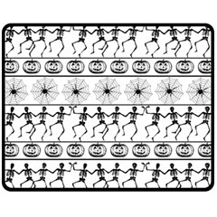 Halloween Pattern Fleece Blanket (medium)  by ValentinaDesign