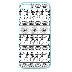 Halloween Pattern Apple Seamless Iphone 5 Case (color) by ValentinaDesign
