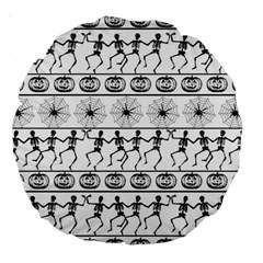 Halloween Pattern Large 18  Premium Round Cushions by ValentinaDesign