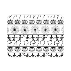Halloween Pattern Double Sided Flano Blanket (mini)  by ValentinaDesign