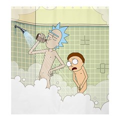 Shower With Me, Morty Shower Curtain 66  X 72  (large)  by riankosugar
