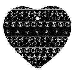 Halloween Pattern Ornament (heart) by ValentinaDesign