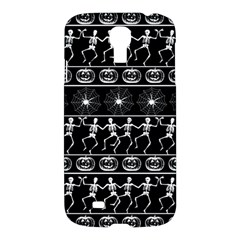 Halloween Pattern Samsung Galaxy S4 I9500/i9505 Hardshell Case by ValentinaDesign