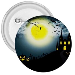 Halloween Landscape 3  Buttons by ValentinaDesign