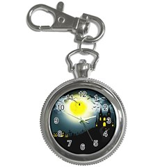 Halloween Landscape Key Chain Watches by ValentinaDesign