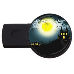 Halloween Landscape Usb Flash Drive Round (2 Gb) by ValentinaDesign