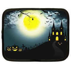 Halloween Landscape Netbook Case (xxl)  by ValentinaDesign