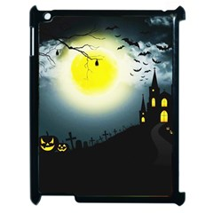 Halloween Landscape Apple Ipad 2 Case (black) by ValentinaDesign