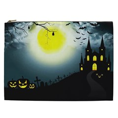 Halloween Landscape Cosmetic Bag (xxl)  by ValentinaDesign