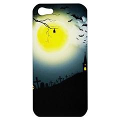 Halloween Landscape Apple Iphone 5 Hardshell Case by ValentinaDesign