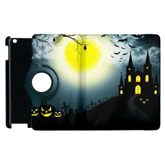 Halloween Landscape Apple Ipad 2 Flip 360 Case by ValentinaDesign