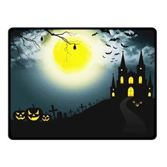 Halloween Landscape Double Sided Fleece Blanket (small)  by ValentinaDesign