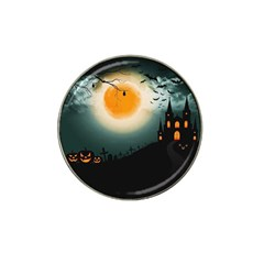 Halloween Landscape Hat Clip Ball Marker (4 Pack) by ValentinaDesign