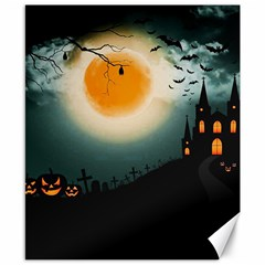 Halloween Landscape Canvas 8  X 10  by ValentinaDesign
