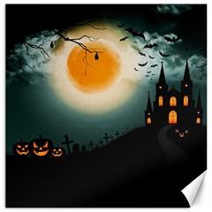Halloween Landscape Canvas 16  X 16   by ValentinaDesign