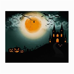 Halloween Landscape Small Glasses Cloth (2 Side) by ValentinaDesign
