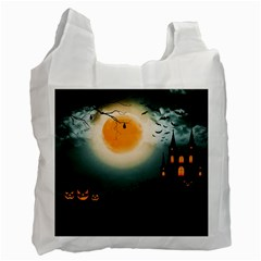 Halloween Landscape Recycle Bag (one Side) by ValentinaDesign