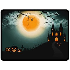Halloween Landscape Double Sided Fleece Blanket (large)  by ValentinaDesign