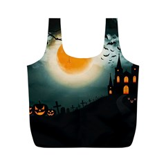 Halloween Landscape Full Print Recycle Bags (m)  by ValentinaDesign
