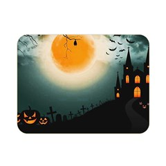 Halloween Landscape Double Sided Flano Blanket (mini)  by ValentinaDesign
