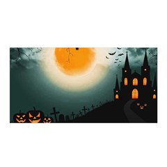 Halloween Landscape Satin Wrap by ValentinaDesign