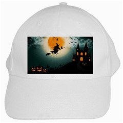 Halloween Landscape White Cap by ValentinaDesign
