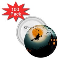 Halloween Landscape 1 75  Buttons (100 Pack)  by ValentinaDesign
