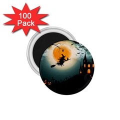 Halloween Landscape 1 75  Magnets (100 Pack)  by ValentinaDesign